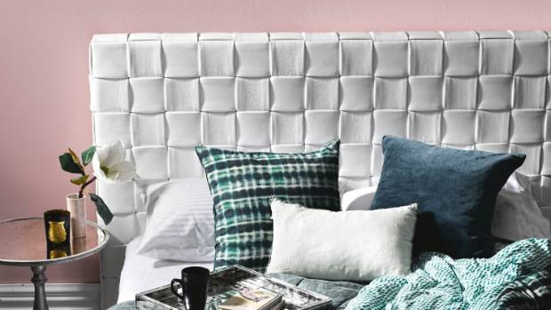 Your Headboard Doesnt Have To Be Boring Think Outside The Square And Experiment