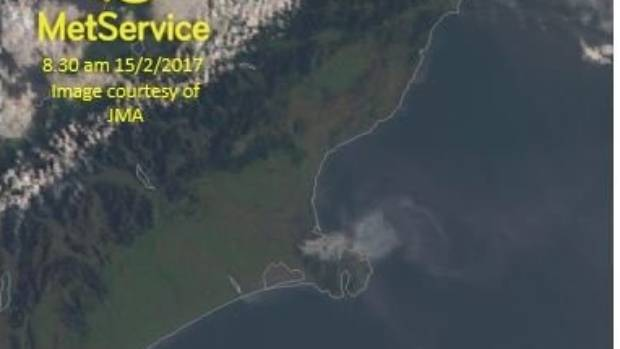 Smoke from the fires on Christchurch's Port Hills can be seen clearly from space.
