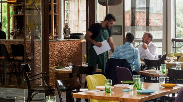 The restaurant's an eclectic mix of modern and old, but it all pays homage to Lebanon.
