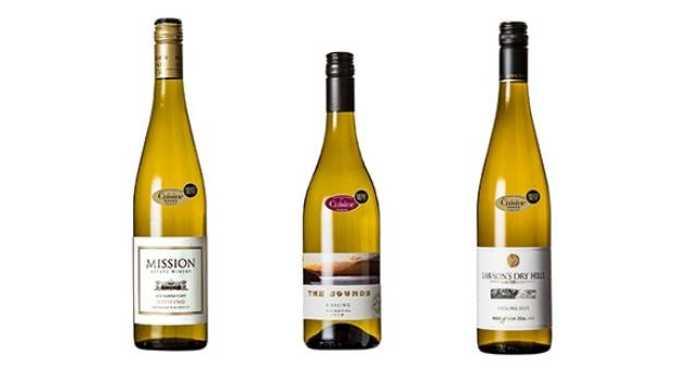The three five-star Best Buy rieslings from the recent Cuisine tasting: Mission Estate Riesling 2014 (Hawke's Bay),  The ...