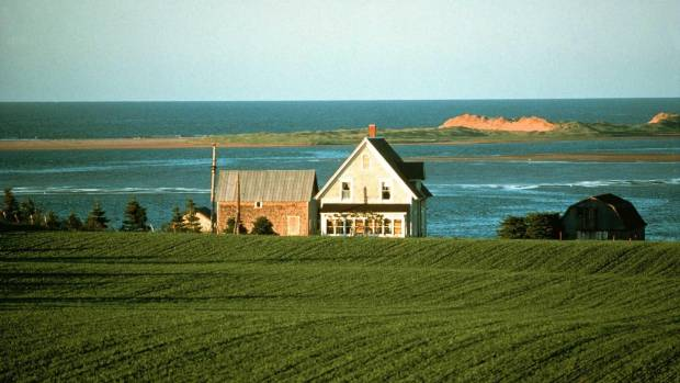 The rich farmland of Prince Edward Island, Canada, is the setting for the novel Anne of Green Gables.