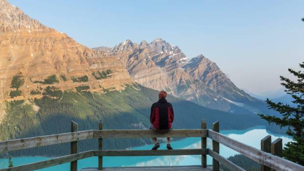You'll find rugged snow-capped peaks, dense cedar forests and flawless mountain lakes in Banff National park