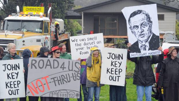 The Kapiti expressway drew a string of protests and opposition from some in the community.