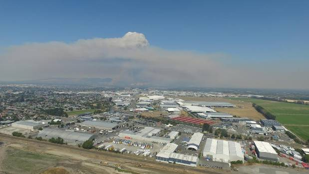 A view of the Christchurch fires taken by a drone in Islington.