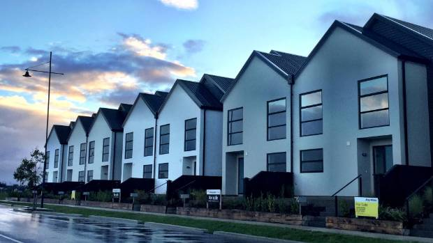 """These two-bedroom homes at Pegasus, just north of Christchurch, have been """"reduced to meet the market""""."""