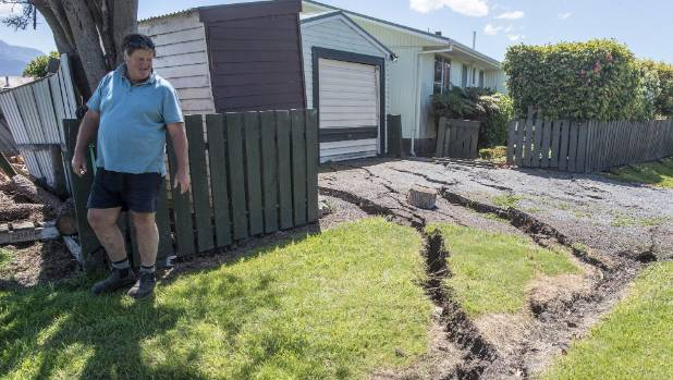 A property in Kaikoura that was damaged during last year's M-7.8 quake near Kaikoura.