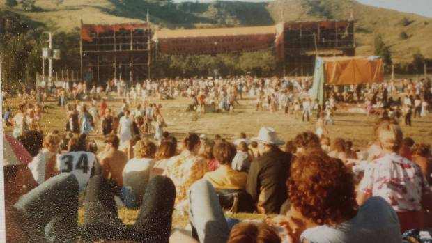 Music and sun at Sweetwaters, 1980.