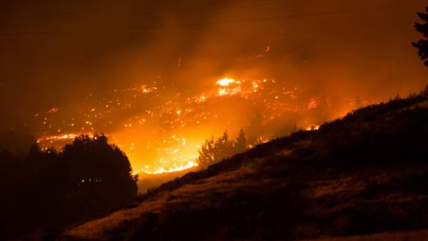 The Port Hills fire burned over a large area.