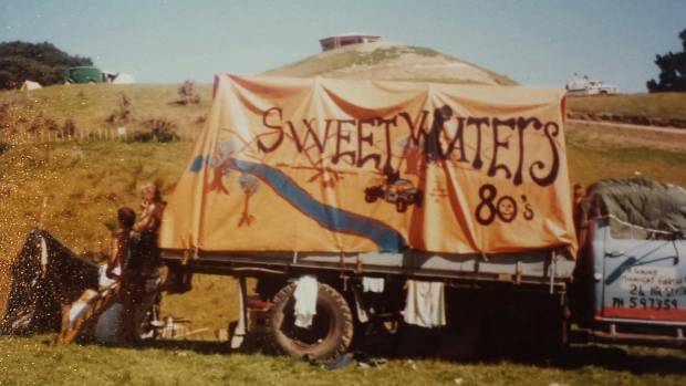 A make-shift house bus at Sweetwaters, 1980.