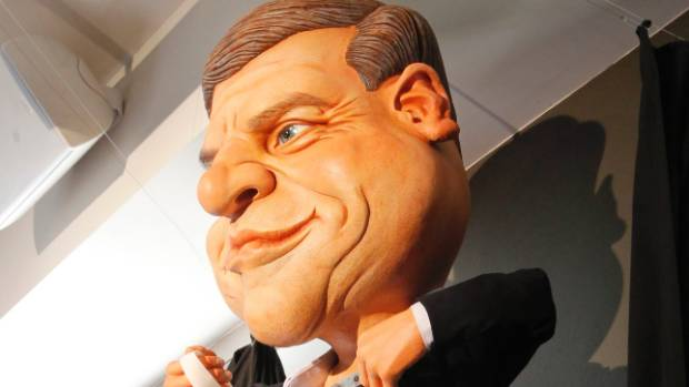 Bill English the puppet at the Backbenchers pub.