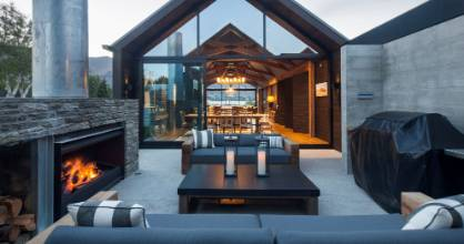 Warren and Mahoney Architects designed this stunning house and outdoor living area in Bremner Bay, overlooking Lake ...