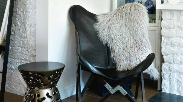 The Argentinian butterfly chair came from Blue Moon Collection in Havelock North.