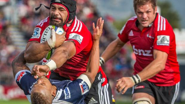 Jordan Taufua, shown here in typical attacking mode for the Crusaders, is returning to Tasman.