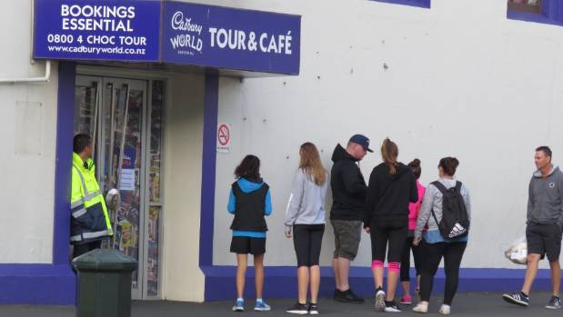 Tourists were turned away from Dunedin's Cadbury World as workers were briefed on the factory's probable closure.