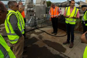 Horizon's regional councillors in the environment committee, visit Feilding waste water plant. Hamish Waugh explains how ...