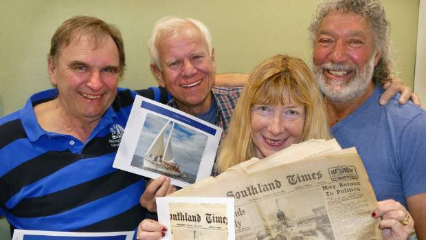 Barrie Neilson, left, Mike MacKay, Lyn Winiata and Rangi Winiata have all reunited in Invercargill for the first time ...