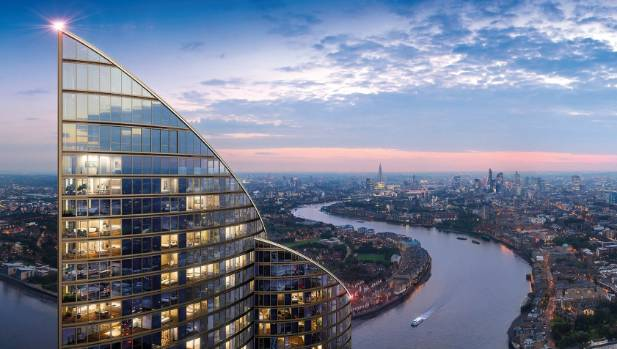 The Spire will offer panoramic views right across London from its Canary Wharf site.