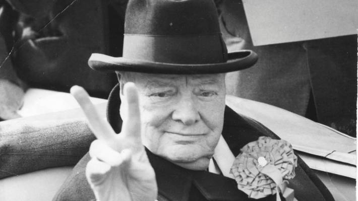 Essay On Photosynthesis A Sign Of Victory From Sir Winston Churchill Taken Th October  General Essay Topics In English also Essay For Students Of High School An Unearthed Essay Reveals Winston Churchill Anticipated Space  Compare And Contrast Essay Examples For High School