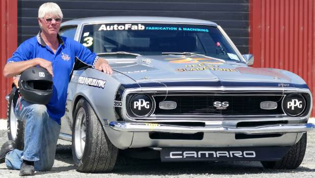 Colin Dawson with his Camaro which he will in the Historic Muscle Car category as part of the Classic Speedfest at ...