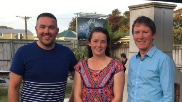 The newly elected leaders of Taranaki's Young Farmers clubs, chairman Matthew Herbert, left, and vice-chairwoman Kate ...