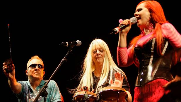 The B52s, with singers Fred Schneider, Cindy Wilson and Kate Pierson, perform in Spain in 2008.