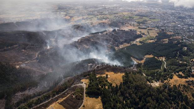 Aerials show the aftermath the fires.