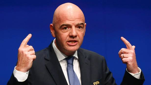 Fifa President Gianni Infantino is perturbed that the referee did not follow Fifa protocols.