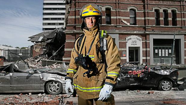 Christchurch central station officer, Omar Yusaf, an earthquake hero who helped rescue people from the collapsed PGC ...