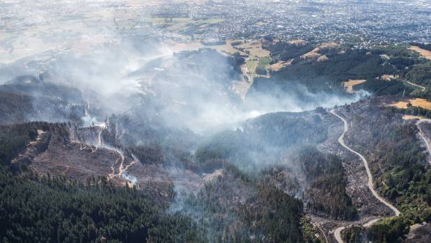 Christchurch Adventure Park shows the destruction caused by the fires.