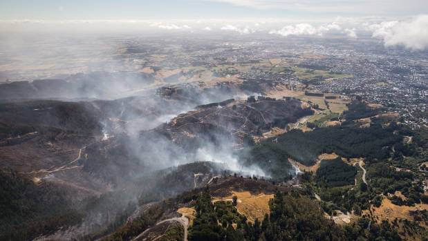 Aerial photos show aftermath of the fires.