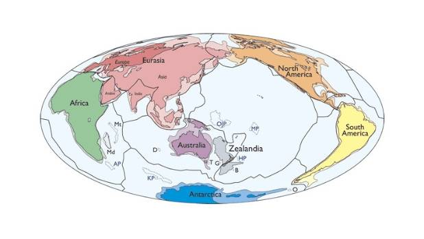 Ninety-four percent of Zealandia is under the sea.
