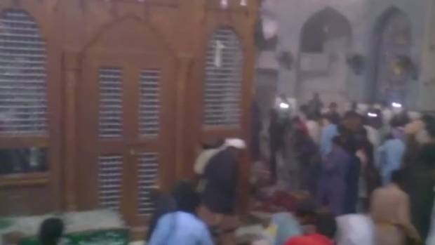 At least 72 people were killed including some 30 children in the apparent Islamic State suicide bombing of a Sufi shrine ...