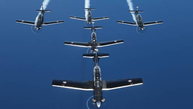 Black Falcons aerobatic troupe will hopefully be seen in action tomorrow.