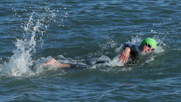 Hayden Squance won the latest round of the Port Nelson Sea Swim Series.