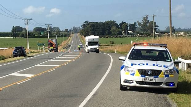 Emergency service personnel are at a fatal crash on State Highway 1 in South Canterbury.