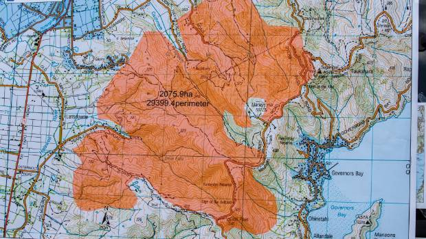 A map showing the fire area, which covers more than 2000 hectares.