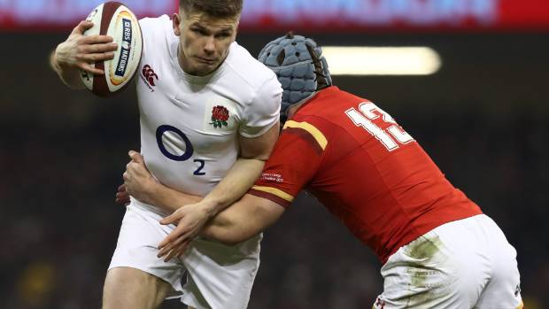 Owen Farrell, pictured playing against Wales last weekend, should be the first name on the team sheet.