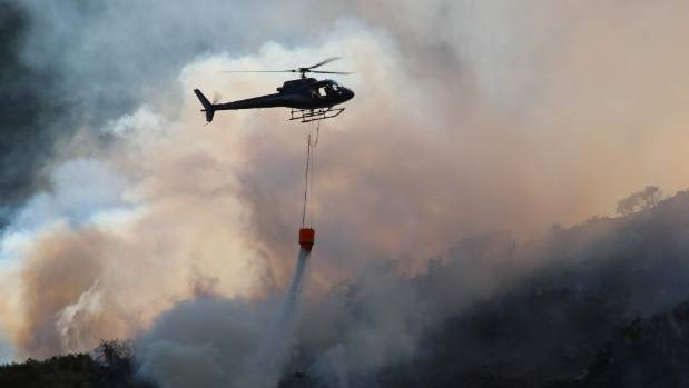 Helicopters costs made up $2.1 million of the overall firefighting expense.
