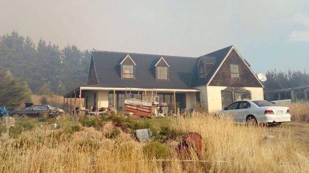 Billy Gordon snapped one last shot of his Early Valley Rd property before it burnt to the ground.
