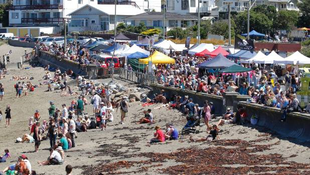 Thousands typically flock to the Island Bay Festival in Wellington.