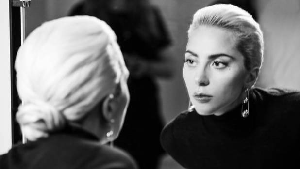 Lady Gaga in the Tiffany ad, which screened on US TVs during the Super Bowl.