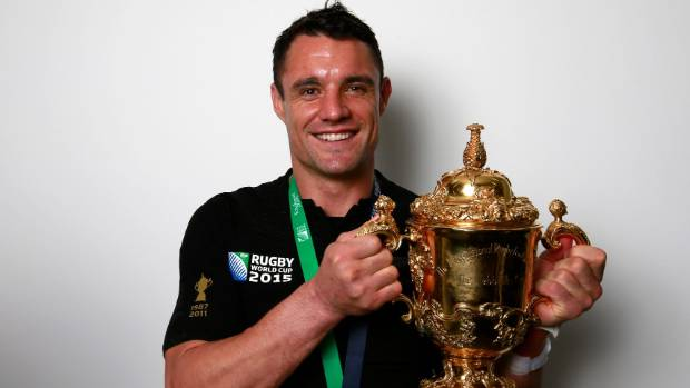 Former All Blacks first five-eighth Dan Carter won the World Cup in 2015.