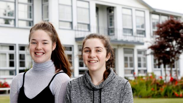 Craighead Diocesan School year 13 students Alexis Townshend, 17, and Julia Hogg, 17, plan to take at least two New ...