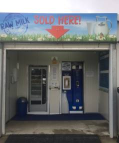 The Aylesbury Creamery self-service kiosk at Mark Williams' farm in Canterbury.