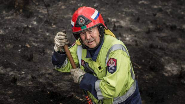 St Albans firefighter Murray Jamieson has been working 24-hour shifts during the fires on Christchurch's Port Hills.