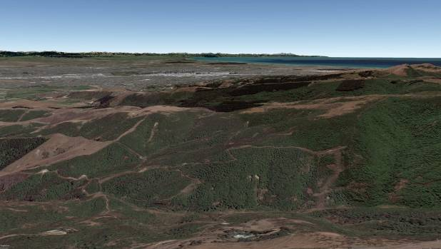 The same image recreated in Google Earth, using 2015 imagery.