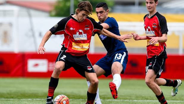 Sebastian Schacht in action for Canterbury United's national youth team last season.
