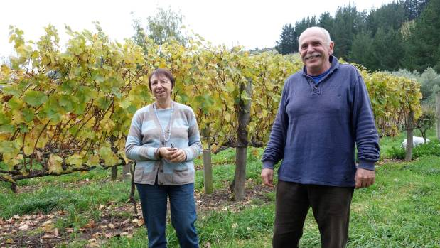 Wilma and Alessandro Laryn at Cracroft Chase winery in 2015.