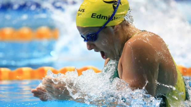 Jade Edmistone competes in the Womens 100m Breaststroke Semi Finals during the 2006 Commonwealth Games Melbourne