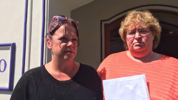 Cadbury workers Teresa Gooch, (left) and Donna Bouma.